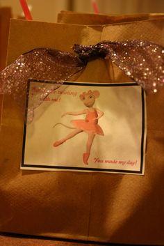 Angelina Ballerina party favors