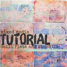 Mixed Media Tutorial: Gelli Plate and Stencils We're back with a new edition to the Gelli Plate series. First, we made simple backgrounds, then we used masks, and last week we used texture. This week we'll be using stencils.