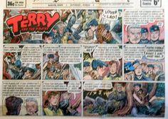 Terry and The Pirates by Wunder Large Half Page Sunday Comic Aug 23 1953 | eBay