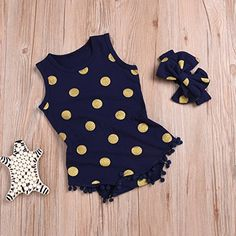 Kehen Newborn Infant Baby Girl 3pcs Summer Clothes Romper Sequins Shorts Bow Headband World Cup Casual Outfit