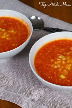 Sweet Corn Tomato Soup