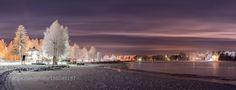 Oulujoki at night by VeHaPhoto
