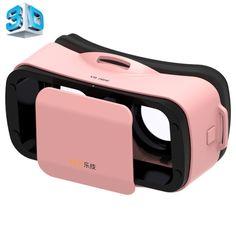[$6.67] LEJI Mini VR Virtual Reality 3D Helmet Headset Glasses for 4.5-5.5 inch Smartphones(Pink)