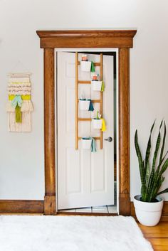 Over door bathroom storage hack