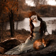 Captivatingly beautiful autumn time etherealness. (Red Fox by ~midnightmind.)