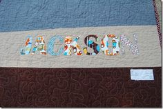 I like the idea of decorating the quilt back to some extent esp for baby quilts