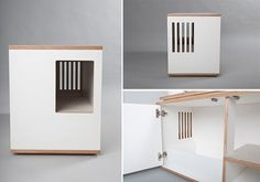 Julinka Modern Cat Litter Hideaway Cabinet