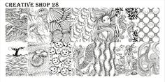 Creative Shop- Stamping Plate- 28 UPDATED DESIGN July Images: mermaid, whale, octopus, jellyfish, sea life-Size of one image- x detailed images-Plastic Backing Nail Plate, Nail Stamping Plates, Unique Image, Detailed Image, Image Plate, Rainbow Connection, One Image, Texture Design, Nautical Theme