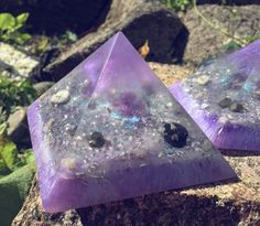 Violet Orgone Pyramid ~ For spiritual balance by OrgoniteFamily on Etsy https://www.etsy.com/se-en/listing/458158592/violet-orgone-pyramid-for-spiritual