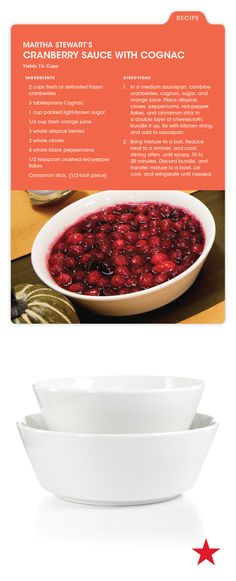Are you in charge of the cranberry sauce? Well, we've got a delicious recipe + a Martha Stewart Collection bowl to serve it in!