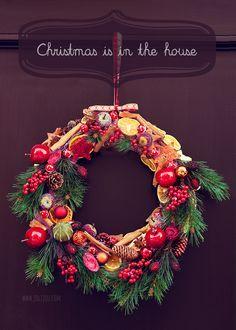 Kleb dich glücklich | DIY Weihnachtskranz – Jolijou