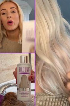 Yellow Blonde Hair, Blonde Hair Care, Brassy Blonde, Brassy Hair, Hairstyles Over 50, Blonde Hairstyles, Blinde Hair, Toning Shampoo, Soften Hair
