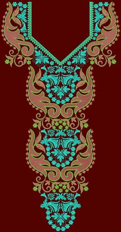 v neck embroidery design - Google Search Beaded Embroidery, Machine Embroidery Designs, Vector Art, Stitch Patterns, Needlework, Projects To Try, Beads, Knitting, Sewing Designs