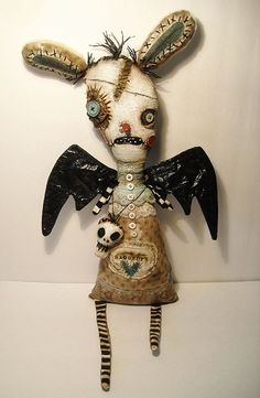Monster Elodie - Art doll by Junker Jane