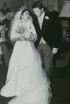 Wedding of King Simeon II and Doña Margarita Gómez-Acebo y Cejuela (later Queen Margarita) on 21 January 1962