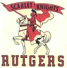 An old decal sticker of Rutgers University Scarlet Knights