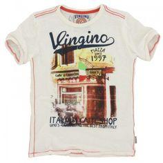 Vingino - T-shirt Jim wit € 34,95