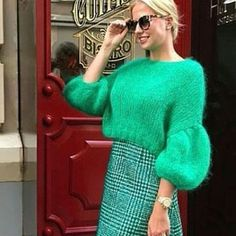 knit sweater with balloon sleeves. #balloon #knit #sleeves #sweater