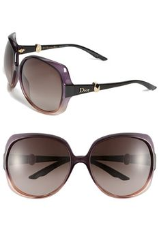 Dior Oversized Sunglasses Plum Apricot Shaded One Size  Italian-crafted sunglasses fashioned with hints of glint on the temples sport oversized circular frames fitted with scratch-resistant gradient lenses.