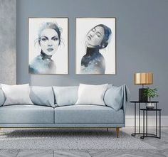 Beautiful art prints illustrated by Norwegian artist and designer Linda Skaret, available in several sizes. Living Room Interior, Scandinavian Style, Painting & Drawing, Love Seat, Beautiful Ladies, Packaging, Art Prints, Drawings, Illustration