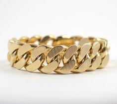 Gold Bracelets for Men   Jewelry ~ Bracelets ~ CARTIER, PARIS VINTAGE GOLD CURB LINK BRACELET
