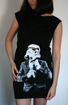 Smart Trooper  American Apparel T Dress  Star by EngramClothing, $25.00
