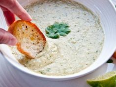 Cilantro Lime White Bean Hummus Soup