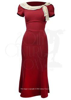 1930s Charm Dress - red