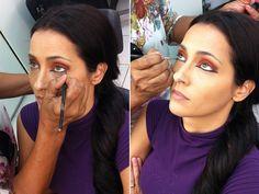 Exclusivo!     Veja o passo a passo da maquiagem de Azenate adulta em José do Egito http://r7.com/XPSk