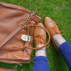 Michael Kors Hamilton bag and CLarks shoes