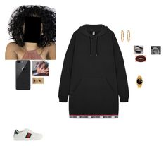 Poppin by ohsnapitzchasy on Polyvore featuring polyvore fashion style Moschino Gucci Rolex Lime Crime clothing