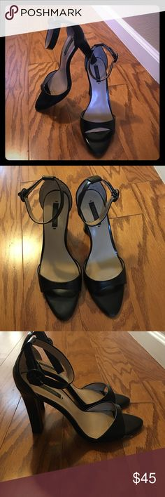 Zara ankle strap heels They are pre-loved but have a lot of life left in them! Zara Shoes Heels
