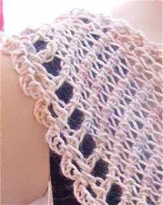 Tunisian Yarn Over ( variation of the Tunisian Islander Wrap)
