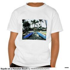 Kayaks on a Hawaiian Beach T Shirt