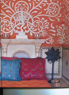 Indian Interiors. Love this look!  Take a look at www.bringingitallbackhome.co.uk for Indian crafts and textiles