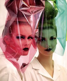 Cellophane on models? Only at Dior!
