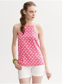 Milly Collection Printed Halter Top