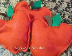 Learning To Be a Mom: Apple Bean Bags