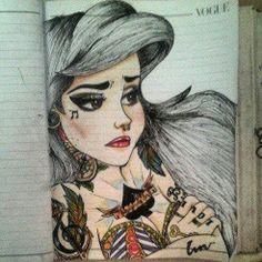 Ariel As A Punk Girl