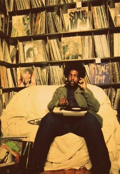 Questlove and his massive record collection.
