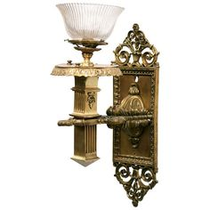Bronze Edwardian Torchiere Wall Sconce by HarveysonBeverly on Etsy