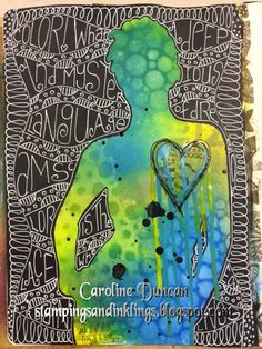 art journal by Caroline Duncan ~ Stampings and Inklings ~ Dylusions