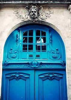 Quartier du Marais à Paris. (France). Stunning door