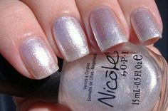 silvery sparkle with rainbow shimmer! -- Nicole by OPI You're A Star #NicolePerfectHalloween
