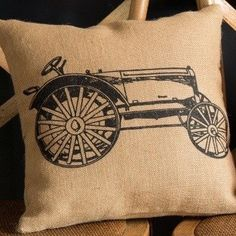 """A classic pillow for your farmhouse decor! Sewn with High Grade Burlap Fabric 14""""x14"""" Hidden zippered envelope closure in back"""