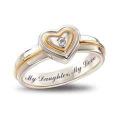 My Daughter  My Love Diamond Ring by The Bradford Exchange: http://www.amazon.com/Daughter-Diamond-The-Bradford-Exchange/dp/B0047E6B1W/?tag=autnew-20