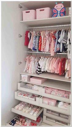 New Girls Bedroom Closet Organization Heavens Ideas Baby Bedroom, Baby Boy Rooms, Baby Room Decor, Girls Bedroom, Room Boys, Master Bedroom, Baby Girl Closet, Kid Closet, Room Closet