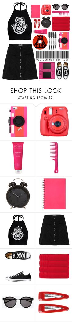 """""""Street Style"""" by lover-of-pie ❤ liked on Polyvore featuring Kate Spade, Nintendo, Fuji, Evolve, Sharpie, Converse, Olivier Desforges, Yves Saint Laurent and Forever 21"""