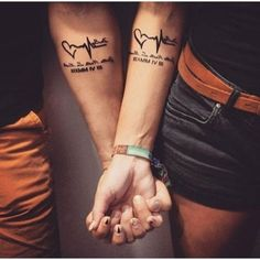 40 Unique and Matching Couple Tattoo Designs - OutfitCafe - Matching Couple Tat. - Tattoos For Women Small Unique Hand Tattoos, Body Art Tattoos, I Tattoo, Sleeve Tattoos, Tattoo Quotes, Lucky Tattoo, Small Tattoos, Marriage Tattoos, Relationship Tattoos
