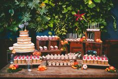 Dessert table M Cakes Sweets. Event Planning and Design by So Happi Together. Photography by Dez and Tam Photography